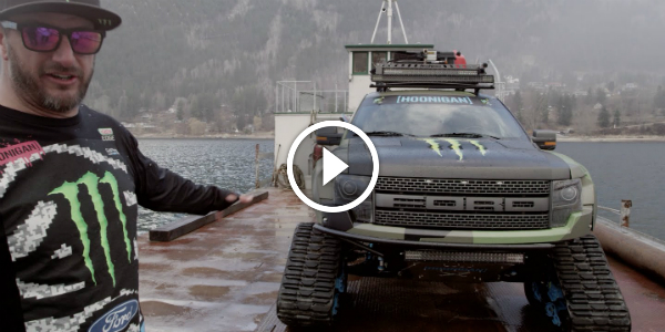 KEN BLOCK Reveals The Awesome Features Of His FORD F-150 RAPTORTRAX! This UNIQUE MACHINE Has Even A Barbecue!!!!!