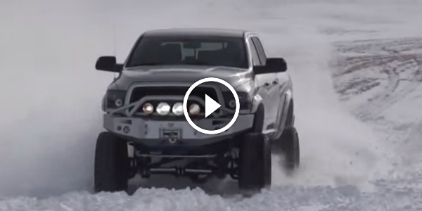 Lifted Cummins Has Fun In The Snow Dodge Ram With Mega Cab Is The Yeti We Were Looking For Ages on 01 Dodge Ram Drift Truck