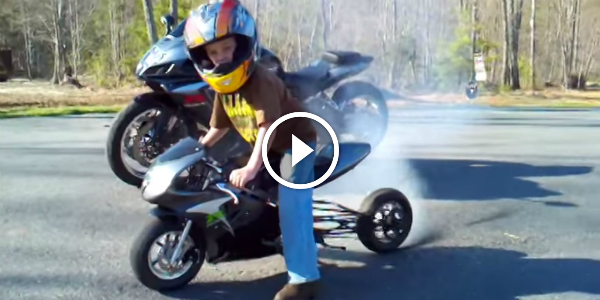 Lucky Kid Mini Pocket Bike For His 6th Bday Muscle