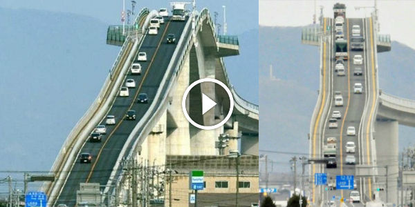 The SCARIEST Looking BRIDGE Is In Japan! Could You Handle Driving Over It! Watch The Exclusive 2 Videos! 3