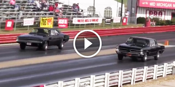 Detroit Muscle Car Drag Racing 1968 Charger R T Vs 1965 Pontiac Gto