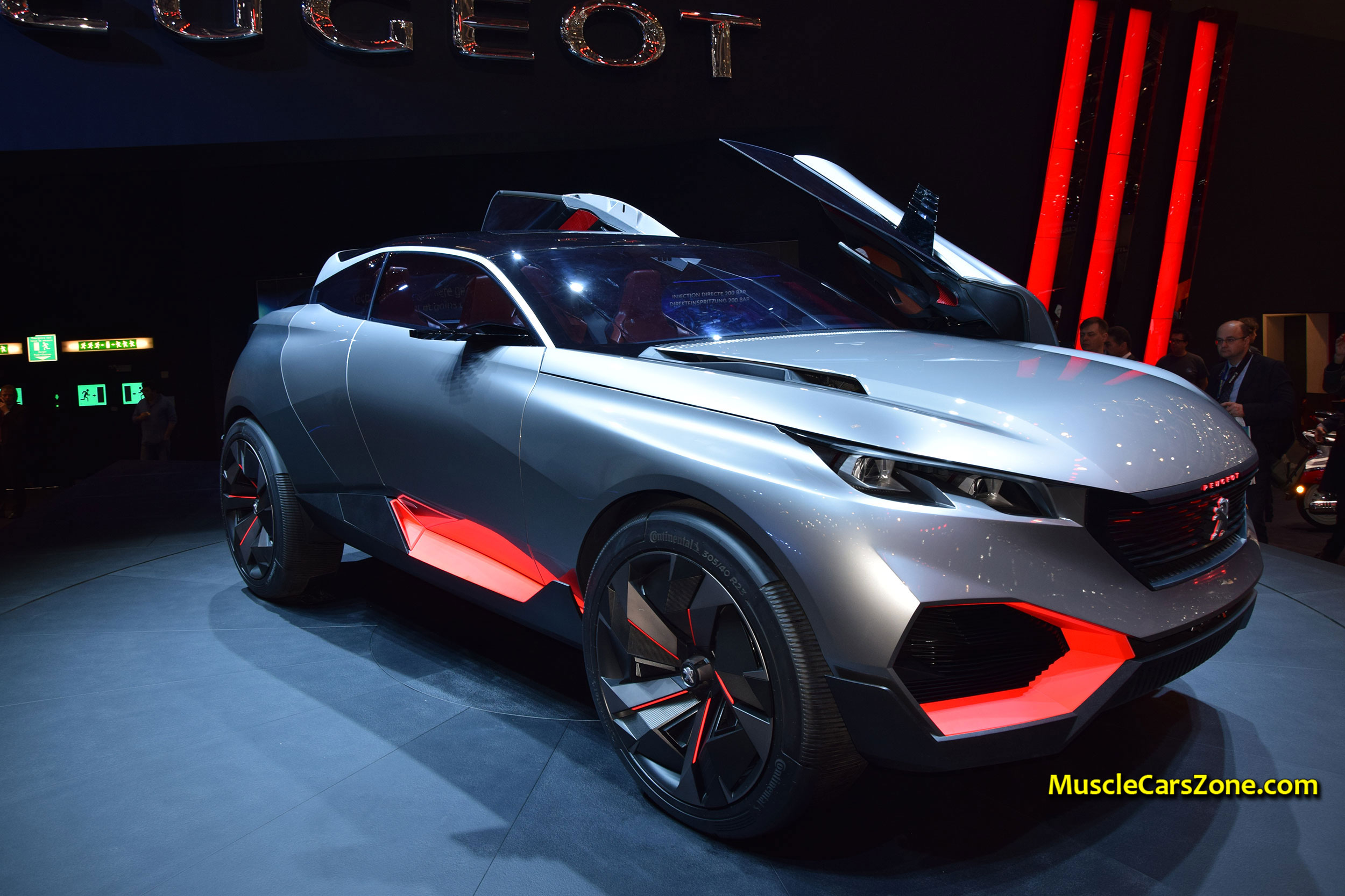 2015 peugeot quartz suv concept futuristic car 05 2015 geneva motor show muscle cars zone. Black Bedroom Furniture Sets. Home Design Ideas