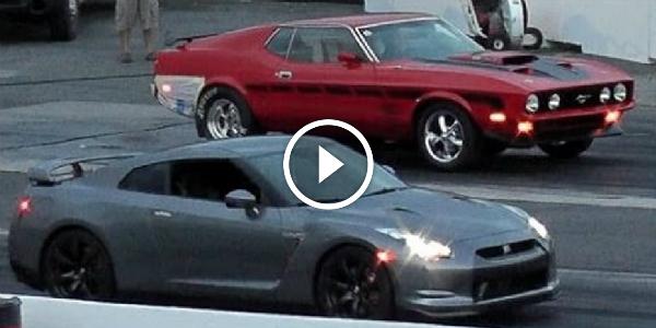 Muscle Vs Sports Car Mustang Mach1 Vs New Nissan Gtr