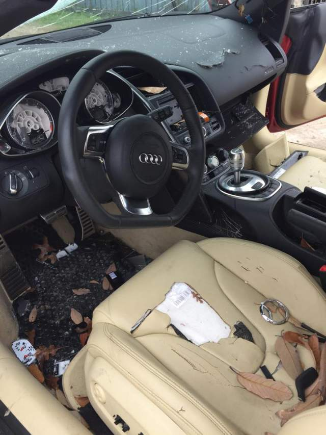 CHEATERS Beware! You May End Up With Destroyed Car Like The Owner Of This Audi R8! His Wife Got MAD!!
