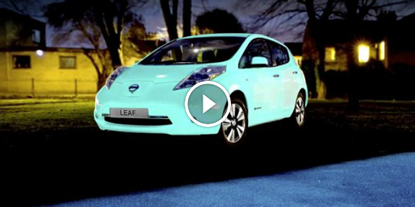 nissan leaf glow in the dark car resembles of one muscle cars zone. Black Bedroom Furniture Sets. Home Design Ideas