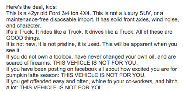 This Guy Sold His Truck 1 DAY AFTER POSTING this CREATIVE AD! Reading It Will Surely MAKE YOUR DAY! 11