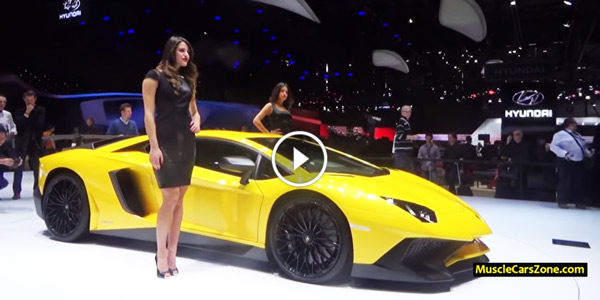 2015 Lamborghini Aventador LP 750 4 SV Girls 2015 Geneva Motor Show