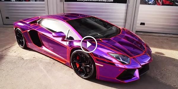 Do You Like This Purple Lamborghini Aventador Lp700 4