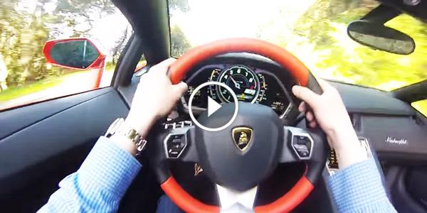 Feel The Adrenaline Rush Inside The Lamborghini Aventador Roadster