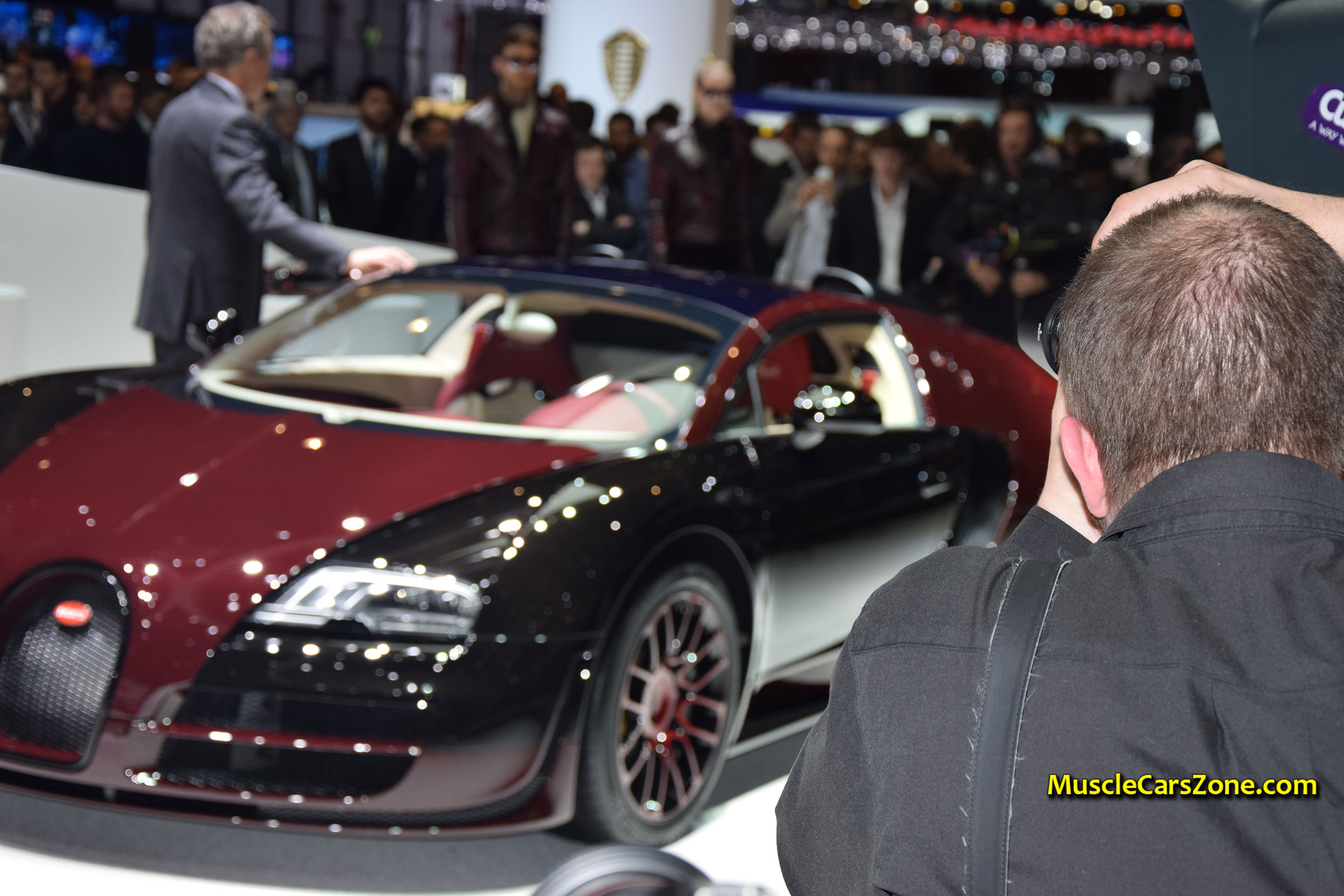 2015-Bugatti-Press-Conference-The-1st-the-450th-Bugatti-Veyron-07-2015-Geneva-Motor-Show.JPG Gorgeous Bugatti Veyron Grand Sport Vitesse Drag Race Cars Trend