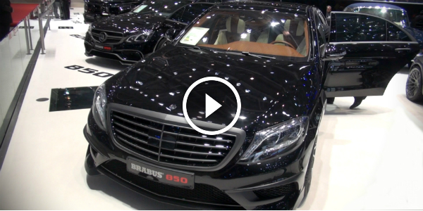Look At The ASTONISHING 850HP Mercedes Benz S63 AMG By BRABUS @ GENEVA!!! EYE-POPPER VIDEO!!! 2