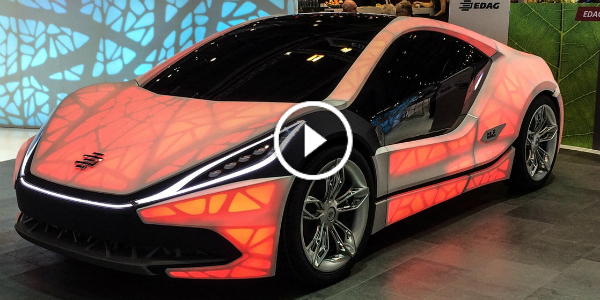 UNIQUE 3D PRINTED CAR @ 2015 GENEVA MOTOR SHOW! Welcome The COLORFUL EDAG Light Cocoon Concept!!! 2