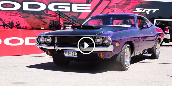Awesome Purple 1970 CHALLENGER T/A at 2015 Mopar Event!