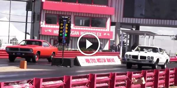 PONTIAC GTO RAM AIR Hemi Cuda vs GTO Judge 14 Mile Drag Race
