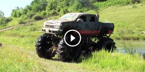 Mega Mudding With This Diesel Powered Colorado Mud Truck