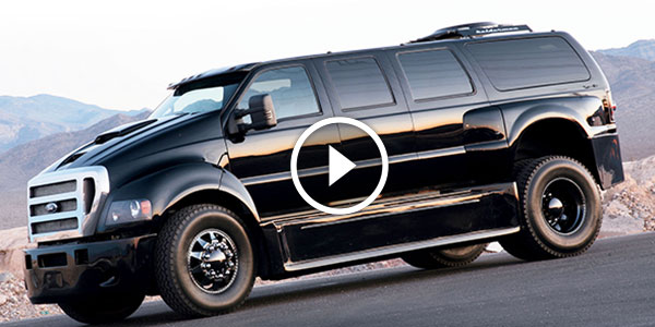 F750 World Cruiser >> $6 MILLION FANCY FORD F750 PICK-UP Has A Living Room, Kitchen, Bathroom & Beds For 6 PEOPLE! Is ...