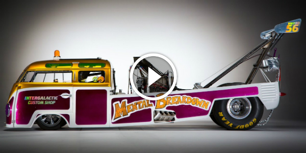 Colorful Volkswagen Hippie Van Turned Into A DRAGSTER From Another Era! You DO NOT Want To Mess With It! 63