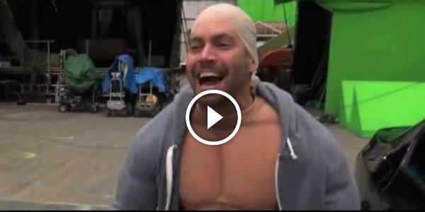 Paul Walker Dressed as Vin Diesel Paul Walker Mocks Vin Diesel