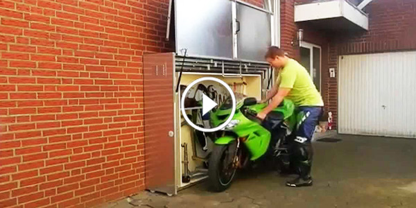 The Smallest Motorcycle Storage Out There