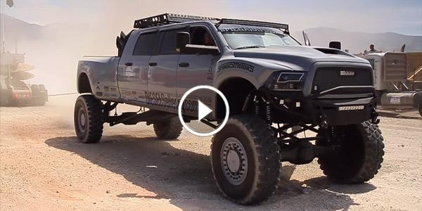 The Ultimate Battle Mega Ram Runner Vs Semi Truck