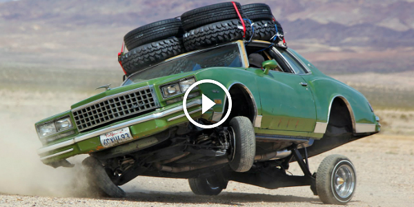 1980 LOWRIDER MONTE CARLO With A HYDRAULIC SUSPENSION On An Off-Road Trip! This Is EPIC! 2