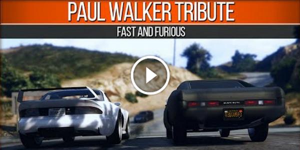 GTA 5 Tribute Video For PAUL WALKER!!! He Is Just One Lap Ahead Of Us! GREAT WORK! 23