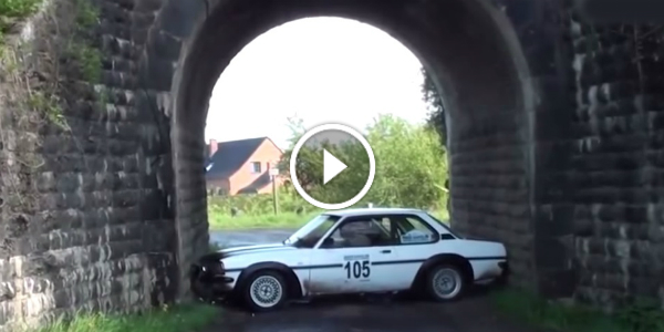 Opel Rally Car GETS STUCK IN A TUNNEL! GUESS How Many PEOPLE Were Required To Pull It OFF! 2