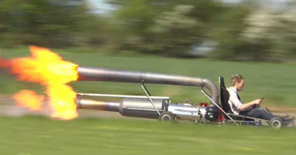 The BADDEST JET POWERED KART Ever On Earth Whos In For A 60MPH FIRE-SPITTING RIDE 2
