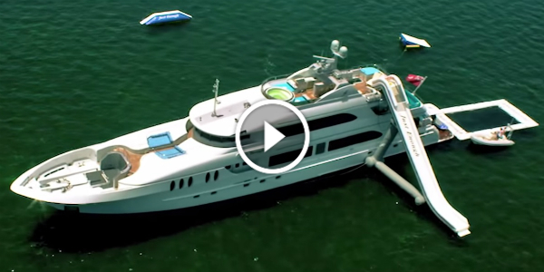 World's FIRST PRIVATE WATER AMUSEMENT PARK Installed On A MEGA YACHT!!! The UTMOST Toy For This Summer! 122
