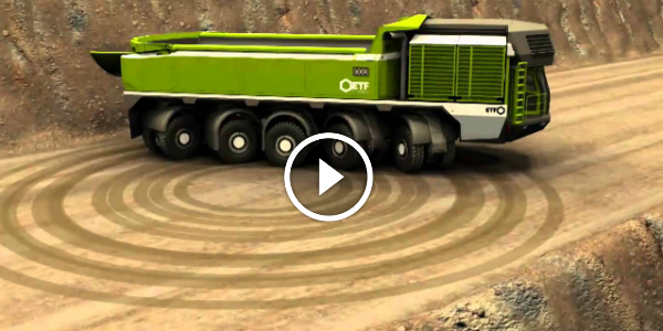 ETF MT-240 Mining Truck Does A COMPLETE TURNING CIRCLE 11