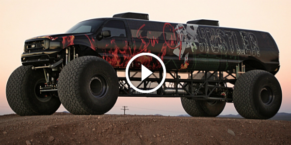 Check Out The Sin City Hustler Hill Climb This Huge Ford