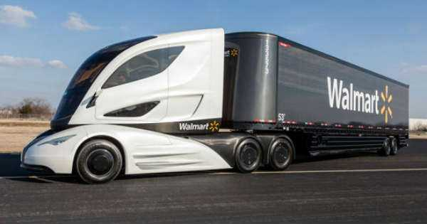 WALMART FUTURISTIC TRUCK Lightweight Environmentally Friendly 1