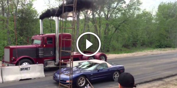 Coga Truck You Will NOT Believe THIS! Truck With Dragon Under The Hood vs Chevy Corvette! 2