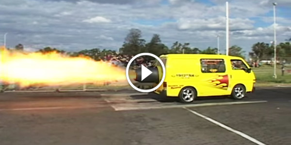 Jet Powered Van Fires Things Up