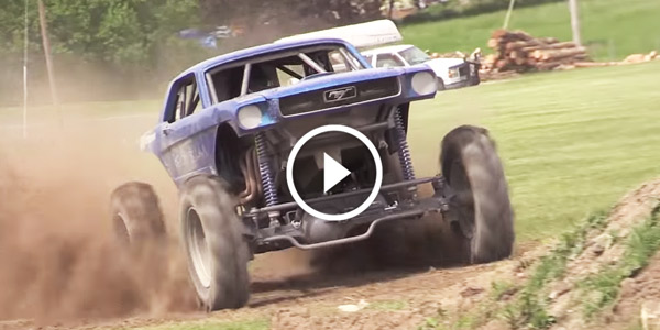 MONSTER FORD MUSTANG HAULS A