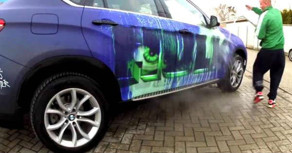 BMW X6 BECOMES An INCREDIBLE HULK Car 4