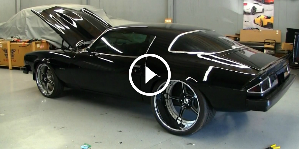 Check This All Black 1976 CHEVY CAMARO With HUGE Forgiato Rear Wheels 411