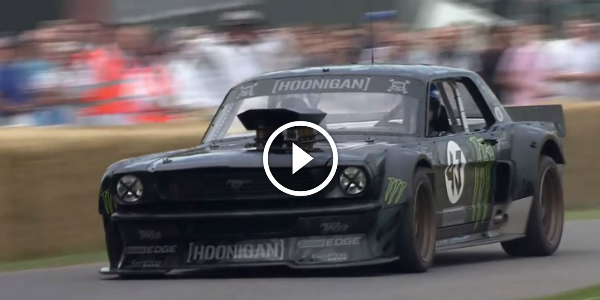 KEN BLOCK Smokes The HOONICORN MUSTANG Tires At 2015 Goodwood Festival of Speed 13