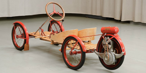 The OWNER Of This PRISTINE 100 Year Old GO-KART Have A LOOK At The MAGNIFICENT 1915 SMITH FLYER 136