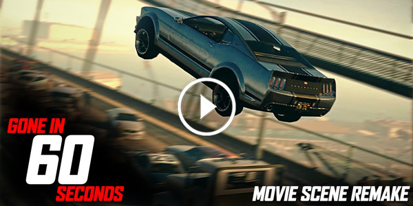 """67 MUSTANG ELEANOR JUMP SCENE From """"GONE IN 60 SECONDS""""!"""
