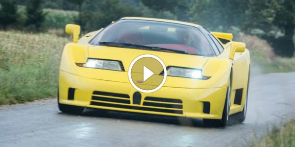 Bugatti Veyron Predecessor Being Tested By Chris Harris 1995 600+ HP Bugatti EB110 SS 32