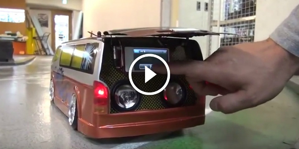 DRIFTING RC VAN With Hiace Speaker System 56