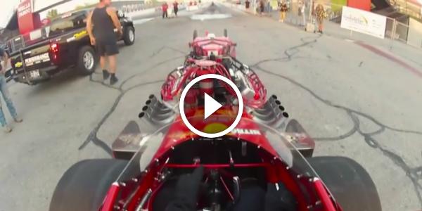 POV Video Of One SPECTACULAR DRAG RUN! Brett Harris NITRO THUNDER 22