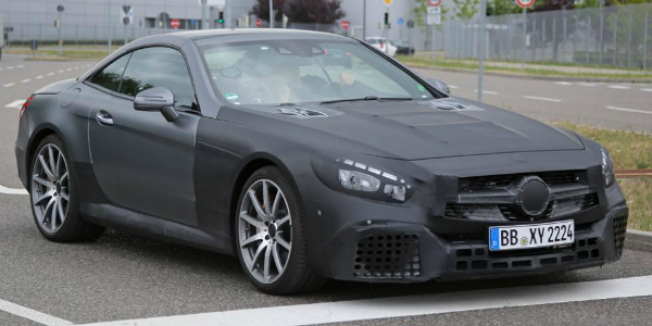 SPY SHOTS! See The 2017 Face-lifted Mercedes-Benz SL63 AMG 354