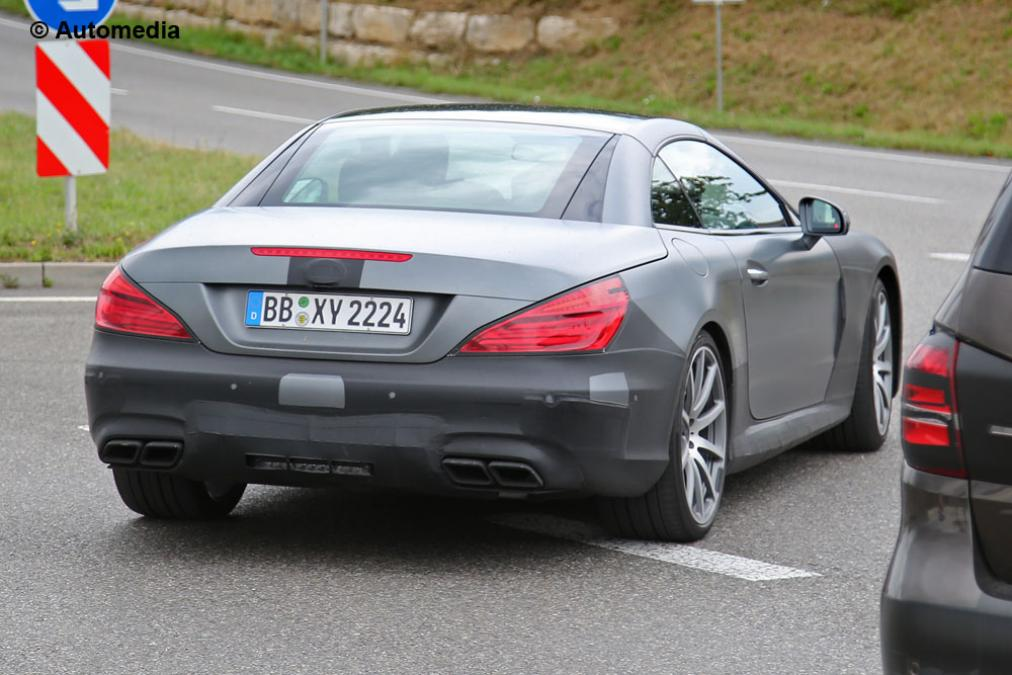 SPY SHOTS! See The 2017 Face-lifted Mercedes-Benz SL63 AMG 6 ...