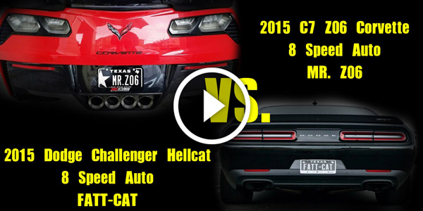 2 Dodge Hellcats TROLL Z06 Corvette Stingray