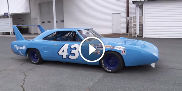 Richard Petty Plymouth Superbird On The Road