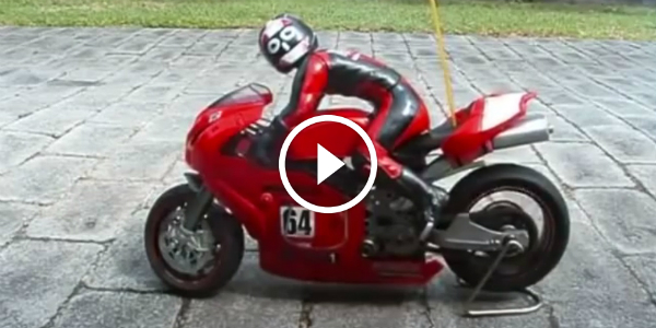 Rc Ducati 999 Bike Jumps Over The Garage But Where Does It Land