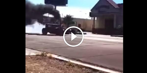WelderUp's D Rod Rules The Streets Of Las Vegas rolling coal 253