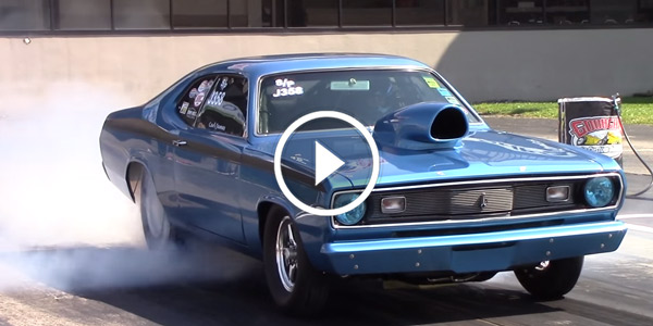 1970 Plymouth Duster at Goodguys Drag Races